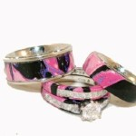 Pink Camo Wedding Rings Set , Pink Camo Wedding Rings In Wedding Category