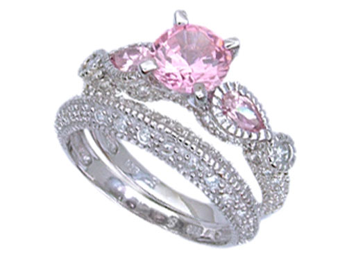 Wedding , Pink Camo Wedding Rings : Pink Camo Wedding Rings With Real Diamonds