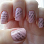 pink newspaper nail art , 7 Newspaper Nails Designs In Nail Category