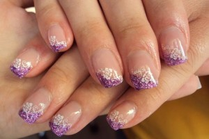 Nail , 6 Gel Nail Design Ideas : purple gel nail polish