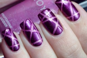 Nail , 6 Purple Prom Nail Designs : purple prom party nail designs