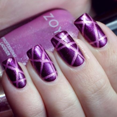 Nail , 6 Purple Prom Nail Designs : Purple Prom Party Nail Designs