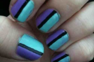 quick and easy nail art design  woman fashion