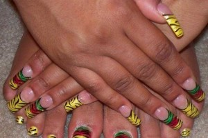 Hair Style , 6 Rasta Nail Designs : rasta nails