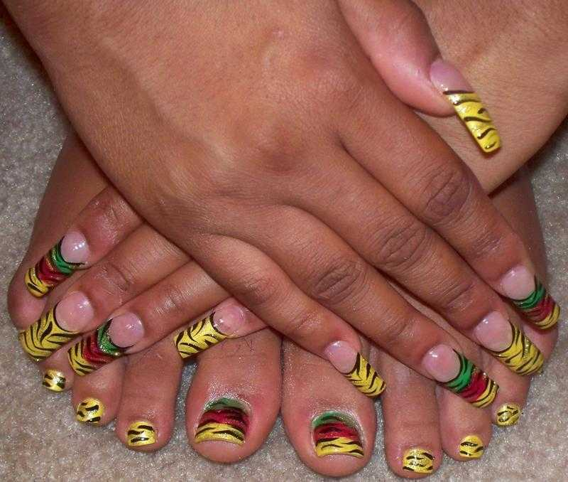 Large : 800 x 678 ... - Rasta Nails : 6 Rasta Nail Designs Woman Fashion - NicePriceSell.com
