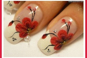 800x581px 7 Red Prom Nail Designs Picture in Nail