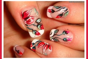 Nail , 7 Red Prom Nail Designs : red prom nail designs photos