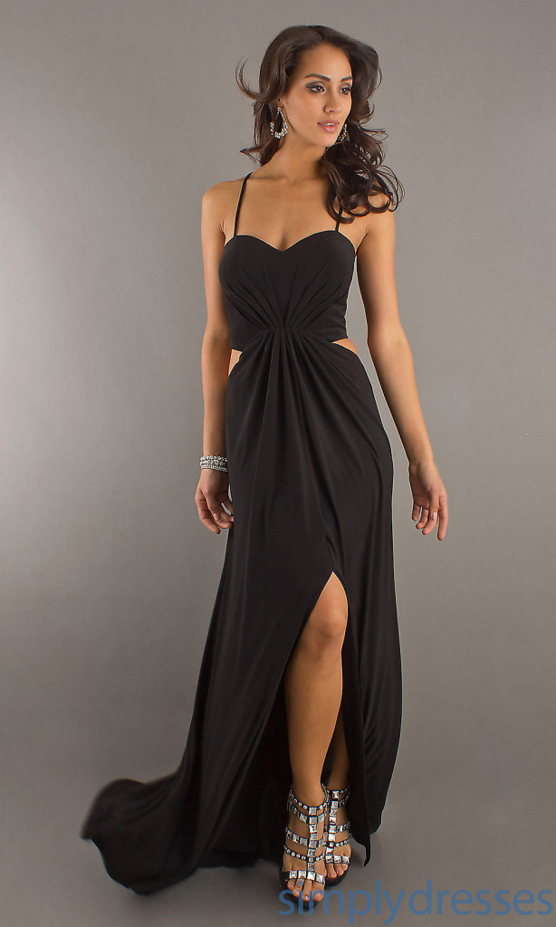 10 Sexy Long Black Dress in Fashion
