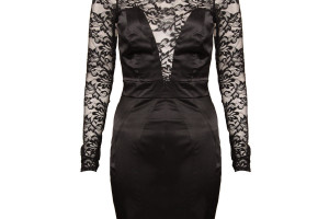 Fashion , 9 Black Lace Dress With Long Sleeves : short sleeve bodycon dress
