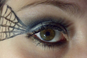 Make Up , 5 Spider Web Eye Makeup : spider web halloween makeup