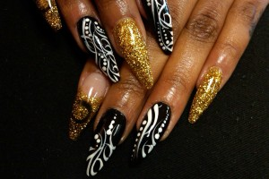 Nail , 6 Stiletto Nail Designs : stiletto nail art designs