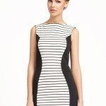 Striped Little Black And White Dress , 10 Little Black And White Dress In Fashion Category