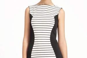 Fashion , 10 Little Black And White Dress : striped little black and white dress
