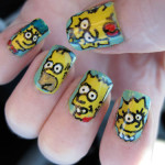 the simpsons nail art designs , 7 Cartoon Nail Designs In Nail Category