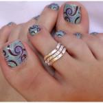 toenail stamp art design , 7 Crackle Toe Nail Designs In Nail Category