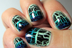 Nail , 6 Crackle Nail Designs : trend crackle nail polish