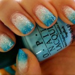 turquoise glitter gradient nails , 6 Turquoise Nail Designs In Nail Category