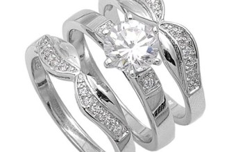Wedding , Wedding Ring Idea For Women : vintage-wedding-ring-sets
