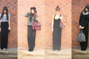 Fashion , 6 Trick How To Wear A Long Black Maxi Dress : wear a black maxi dress casually