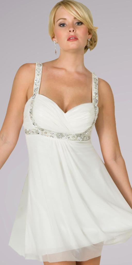 Fashion , Senior Graduation Dresses Collection : White Graduation Dresses