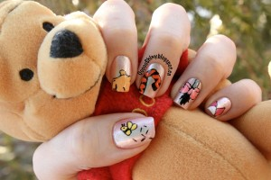 Nail , 7 Cartoon Nail Designs : winnie the pooh nail art designs