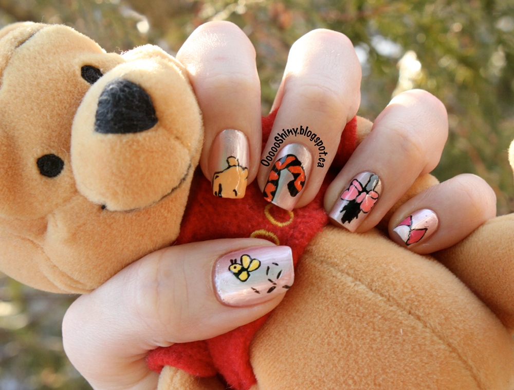 Winnie The Pooh Nail Art Designs Woman Fashion Nicepricesell