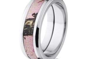 500x500px Pink Camo Wedding Rings Picture in Wedding