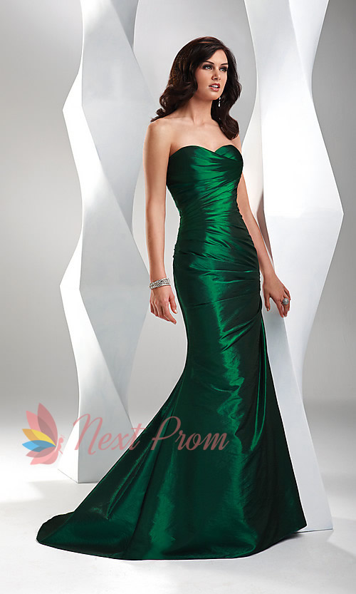 Green Evening Dress Vintage Emerald Green Dress Emerald Green ...
