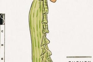 Fashion , 6 Green Vintage Prom Dress Designs : Green evening dress from 1934   Vintage Patterns