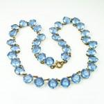 Antique Art Deco Blue Crystal Bib Necklace. $85.00, via Etsy. | Fran\'s , 6 Crystal Bib Necklace Etsy In Jewelry Category