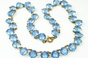 Jewelry , 6 Crystal Bib Necklace Etsy : Antique Art Deco Blue Crystal Bib Necklace. $85.00, via Etsy. | Fran\'s