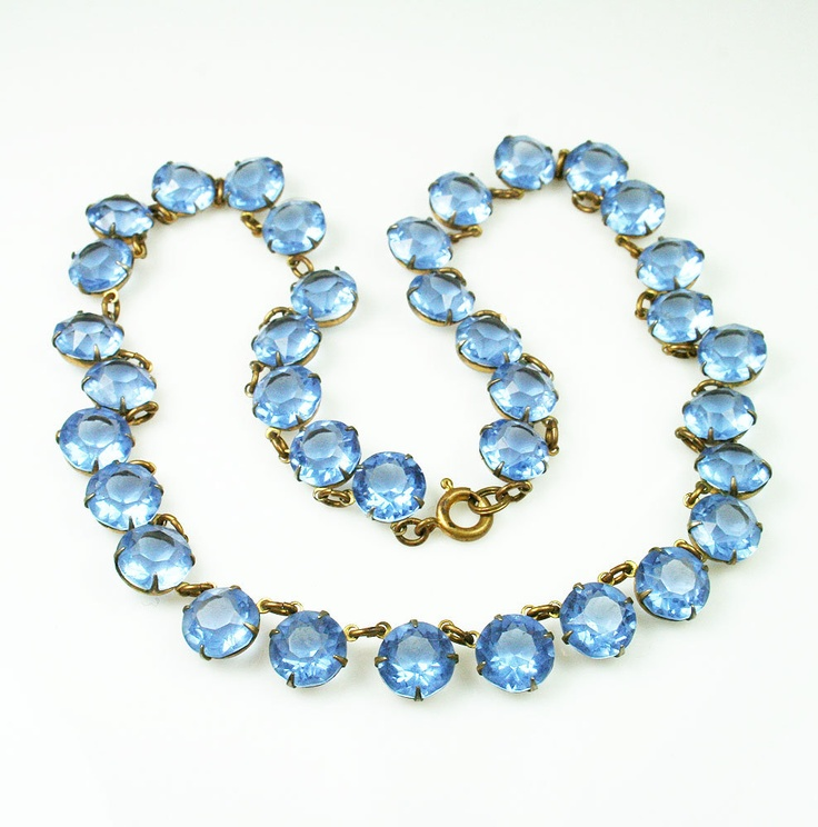 6 Crystal Bib Necklace Etsy in Jewelry