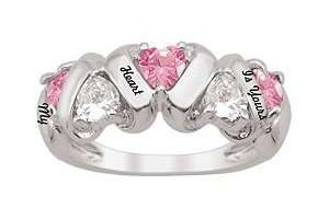 300x300px Pink Camo Wedding Rings Picture in Fashion