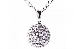Jewelry , 6 Crystal Necklace : ... Crystal Necklaces › Fizzball Collection Crystal Ball Necklace Silver