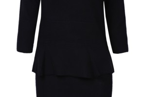 Fashion , 7  Long Sleeve Black Sweater Dress : Black Long Sleeve Ruffle Bodycon Sweater Dress