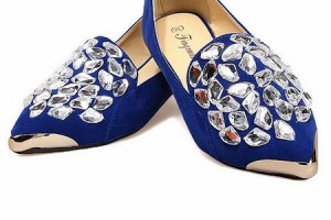 Shoes , 6 Vintage Style Dress Shoes : ... Shoes > Flattie > Retro style Fashion Crystal decoration Flattie shoes