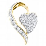 14K Yellow Gold Heart Pendant , 8 Gold Heart Necklaces For Women In Jewelry Category