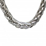 14k White Gold Weave Style Necklace Jewelry , 11 White Gold Necklaces Women In Jewelry Category