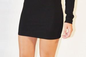 Fashion , 6 Little Black Dress Backless Inspiration : Black Little Black Dress - Black backless dress with chains   UsTrendy