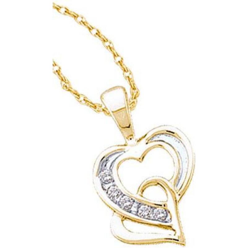 6 Gold Heart Necklaces For Women in Jewelry