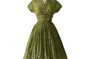 Fashion , 7 Green Vintage Prom Dress Designs : 1950s Green Vintage Prom Dress