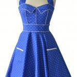 1950s Vintage Blue Dress , 7 Vintage Style Dress In Fashion Category
