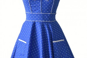 Fashion , 7 Vintage Style Dress : 1950s Vintage Blue Dress