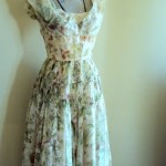 1950s Vintage Olive Green Prom Dress , 7 Green Vintage Prom Dress Designs In Fashion Category