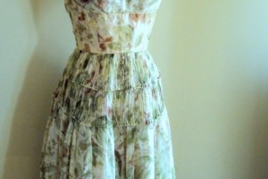 Fashion , 7 Green Vintage Prom Dress Designs : 1950s Vintage Olive Green Prom Dress