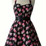 1950s Vintage Rose Dress , 7 Vintage Style Dress In Fashion Category