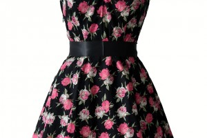Fashion , 7 Vintage Style Dress : 1950s Vintage Rose Dress