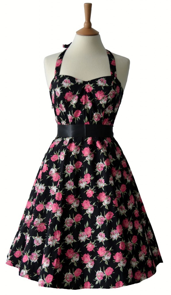 1950s Vintage Rose Dress  7 Vintage Style Dress   Woman Fashion - NicePriceSell.com