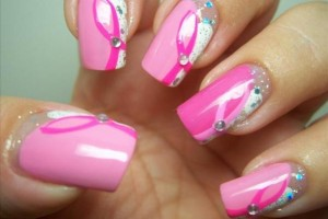 Nail , 6  Breast Cancer Nail Designs : Breast Cancer Awareness Nail Design | Nail Art Gallery