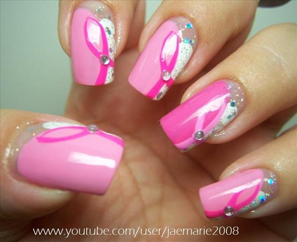 6  Breast Cancer Nail Designs in Nail